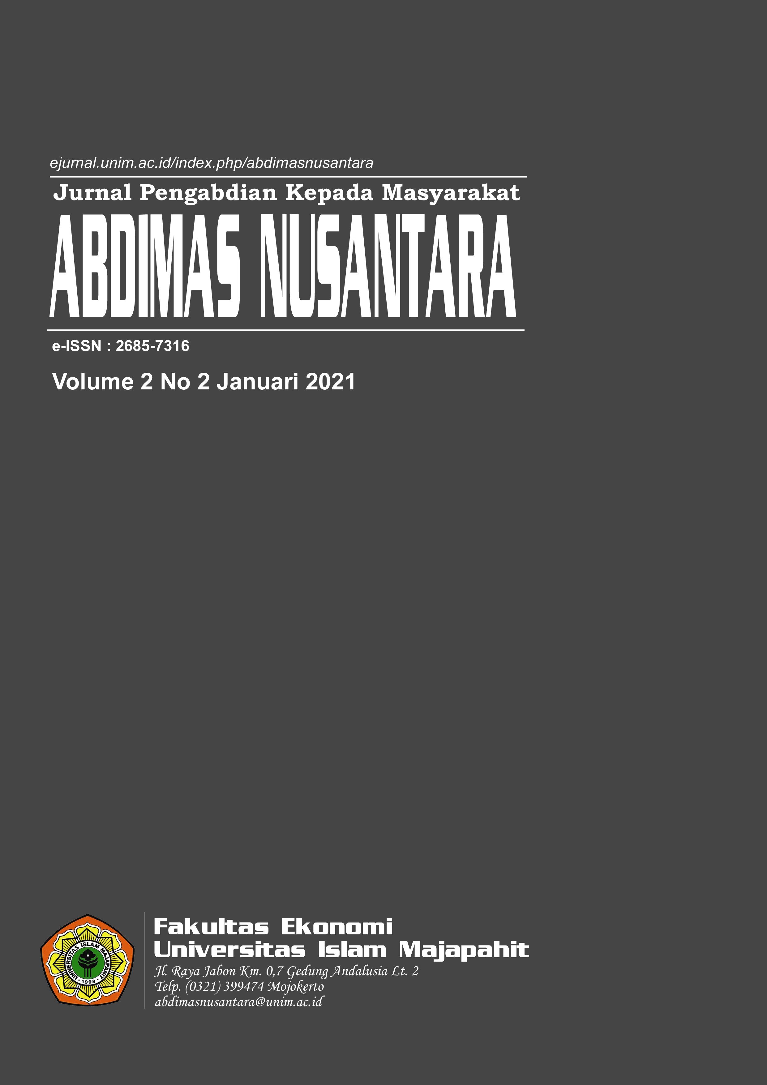 View Vol. 2 No. 2 (2021): ABDIMAS NUSANTARA (Januari)